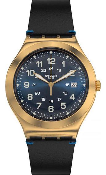 Relógio Masculino Swatch Happy Joe Golden Ywg408