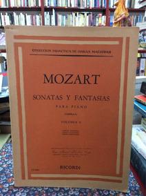 Mozart Sonatas Y Fantasías Para Piano Volumen 2 Música