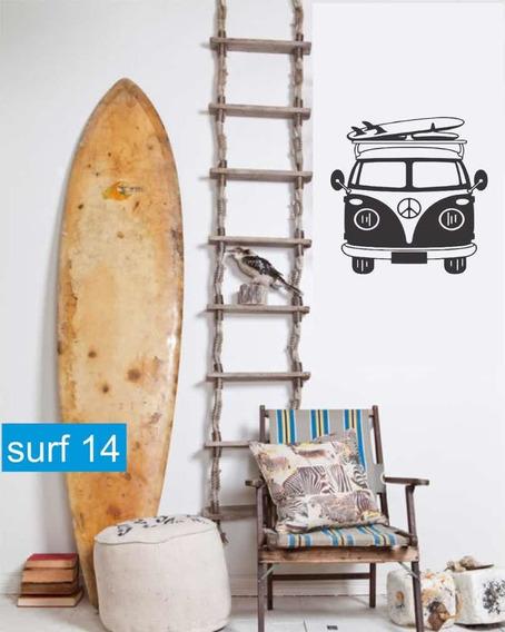 Vinilo Decorativo Surfer Surf Playa Beach Tabla Ola Olas