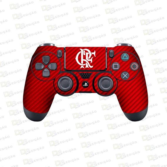 Flamengo - Adesivo Skin Controle Ps4 Carbono Vermelho