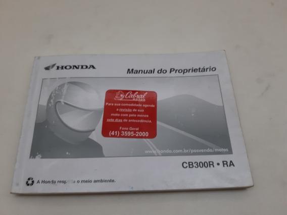 Manual Do Proprietário Honda Cb300r Cb300ra Original Usado
