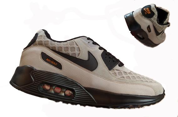 Zapatos Nike Airmax 90 Two Gris Verde Damas Y Caballeros