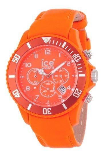 Ice-watch - Ice-chrono Matte - Big 48 - Naranja Fluo - Cuero