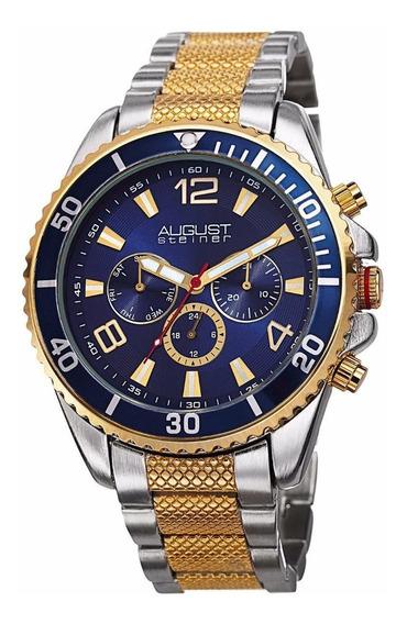 Reloj August Steiner As8119ttg Nuevo Maquinaria Suiza $4,499