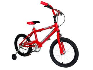 Bicicleta Rodado 16 Cross Kids Nacional Solo En Roja