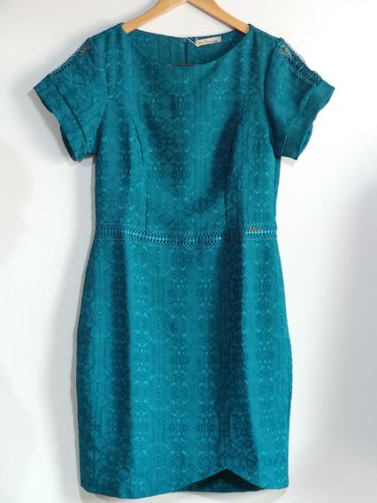Vestido Midi Fato Consumado Tecido Jacquard C Elastano Verde