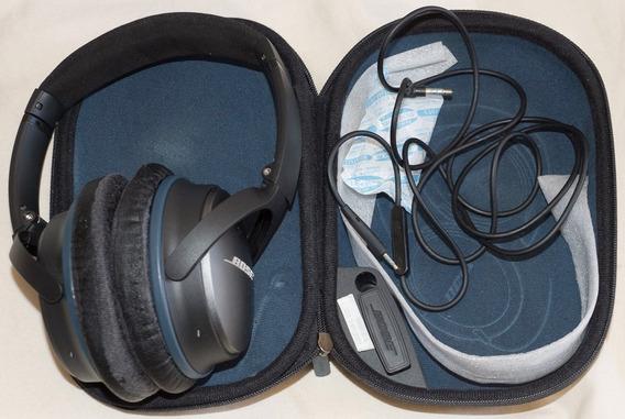 Fone Ouvido Anti Ruído Bose Qc25 Com Espumas Usadas.