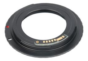 Adaptador Lente M42 Para Câmeras Canon Eos Com Chip E Flange