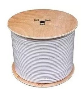 Imagen 1 de 4 de Cable Coaxial Rg6 Directv Intercable 70(blanco) 10mts