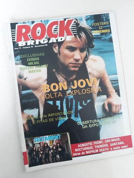 Revista Rock Brigade 76 Bon Jovi Ultrage A Rigor