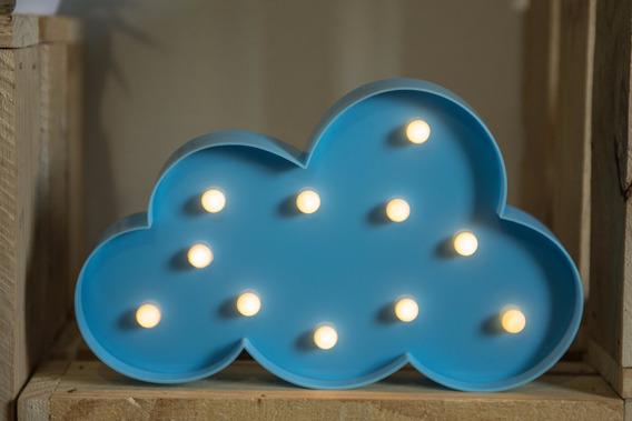 Luminária Decorativa Decoração Nuvem Led Azul