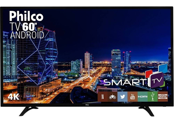 Smart Tv Led 60 Philco Ph60d16dsgwn Ultra Hd 4k Conversor