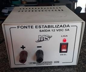 Fonte Estabilizada Ms 12 Volts De 5a Usada