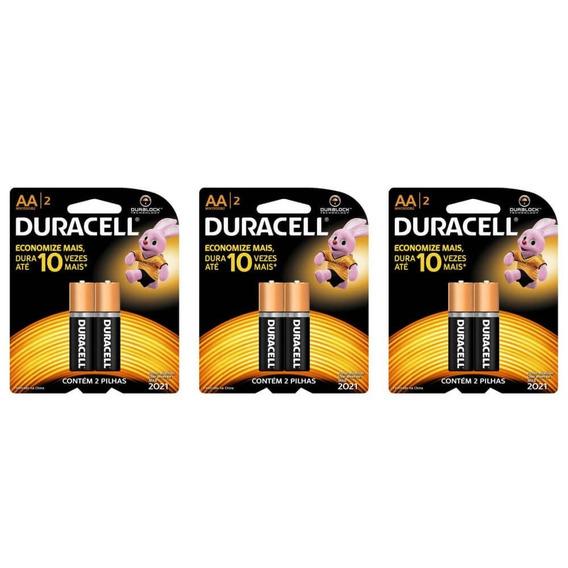 Duracell Pequena Pilha Aa C/2 (kit C/03)