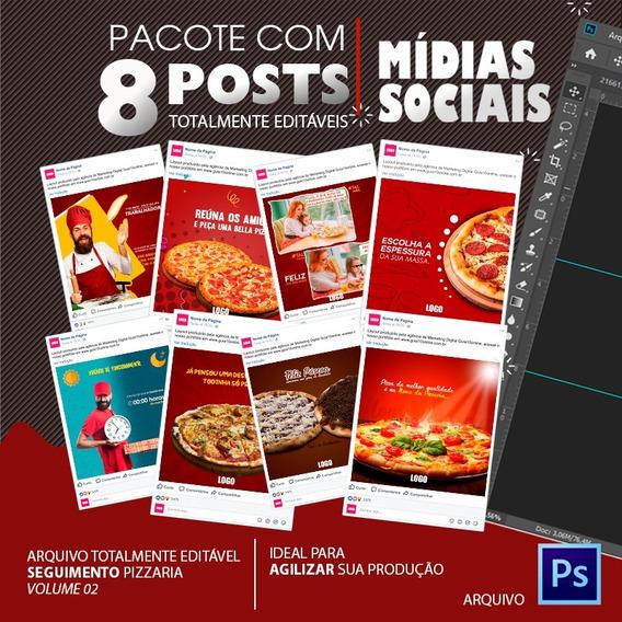 Post Para Redes Sociais Editável - Pizzaria - Vol. 02