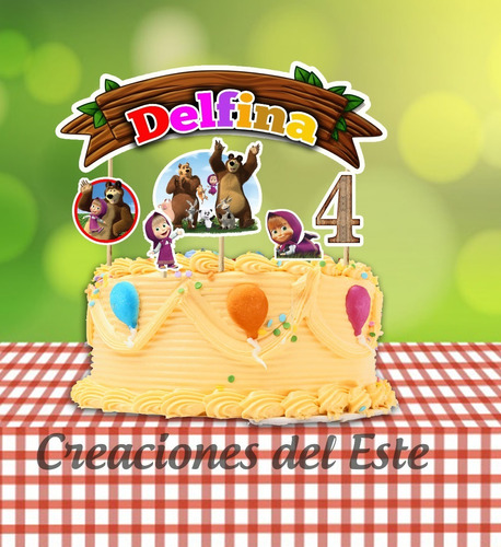 Imagen 1 de 5 de Cake Topper Personalizado Infantil