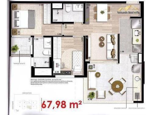 Imagem 1 de 18 de Apartamento À Venda, 67 M² Por R$ 599.000,00 - Centro - Guarulhos/sp - Ap0137