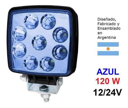 Reflector Aux 9 Leds 45w 12/24v Baiml (concentra) Luz Azul