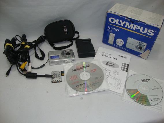Camera Digital Olympus X-750 Completa Funcionando