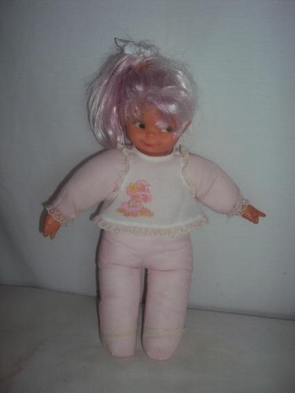 Boneca Cabelo Rosa Parecida Com A Farofinha Tamanho 35cm