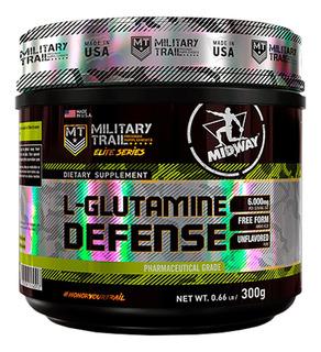 5 Glutamina Defense 300g Midway + Brinde + Com Nf-e