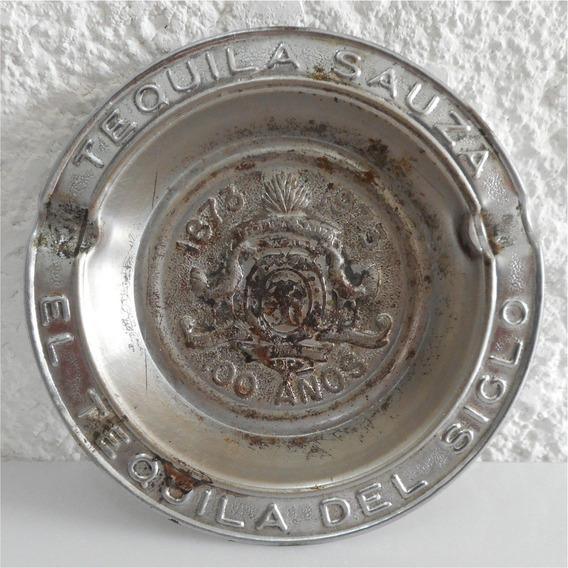 Cenicero Metálico Conmemorativo 100 Años Tequila Sauza 1973