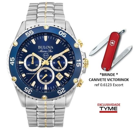 Relógio Bulova Masculino Wb30686a / 98h37 + Brinde C/ Nf