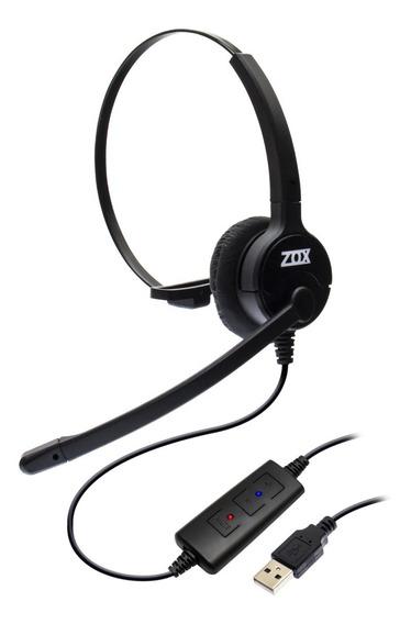 Headset Usb Voip C/ Cancelador De Ruído Mod. Dh-80 - Zox