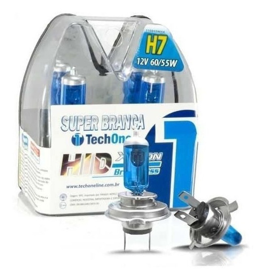 Lampada Tech One H7 8500k Super Branca Par Tip Xenon 12v 55w
