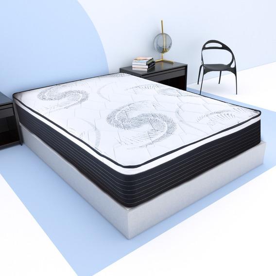 Colchón Matrimonial Clowd Mattress Spring Confort Air + Box