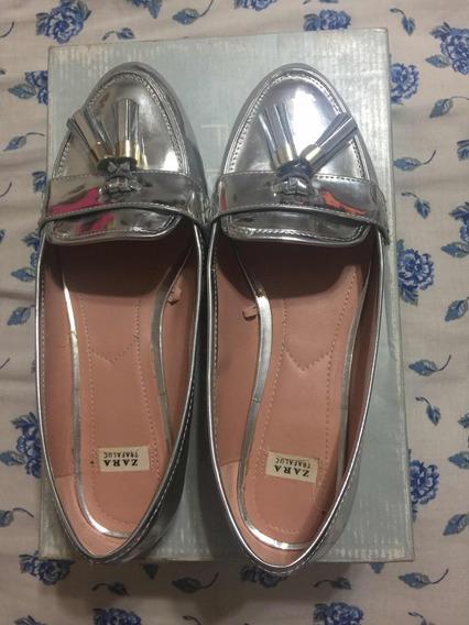 Zapatos Zara Plateados