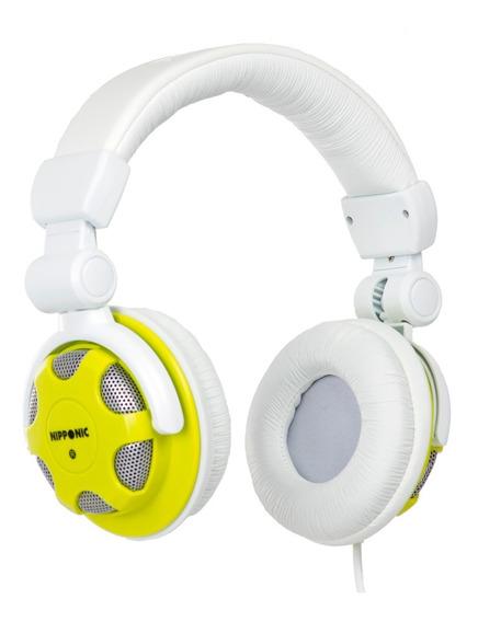 Fone Headphone Style Dj Nipponic Nip-cd830 Branco/verde