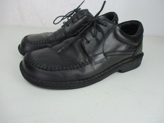 Zapatos Footprints Birkinstock De Piel Color Negro