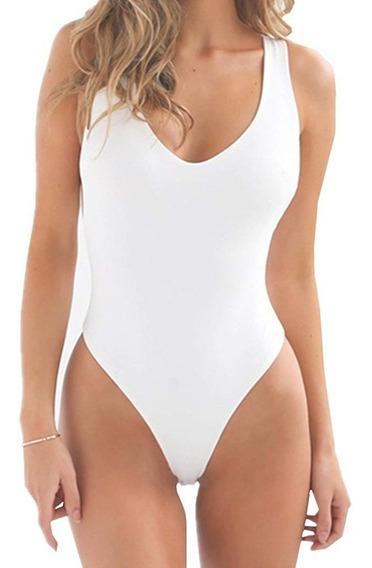 Bodysuit Mujer Escote Espalda U Body Sin Espalda Dama Moda
