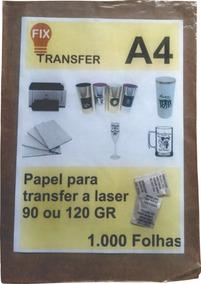 Papel Tranfer Laser 1000 Folhas A4