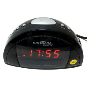 Rádio Relógio Digital Britânia Bs67 Seminovo Garantia