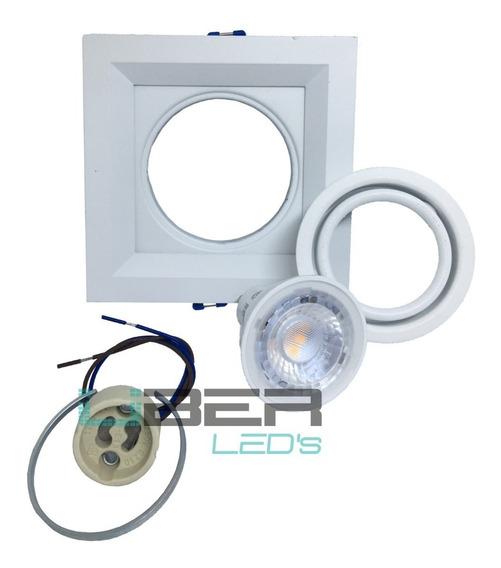 Kit 10 Spot Recuado Branco Dicroica Gu10 Newline In50321