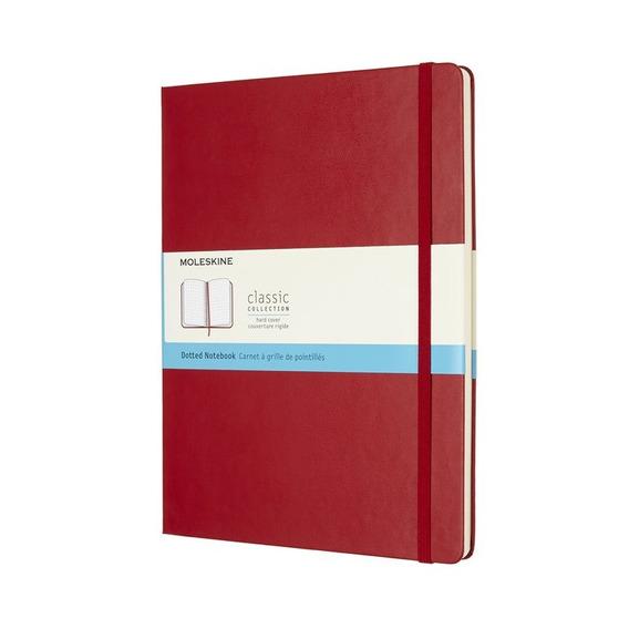 Caderno Clássico, Vermelho, Capa Dura, Pontilhado, Extra Gde