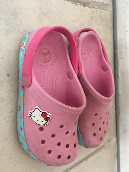 Crocs Nña Hello Kitty Talla 20 Cm