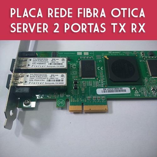 Placa Rede Finisar Pci-e X4 4gb Fc 2x Port Tx Rx Server Nova