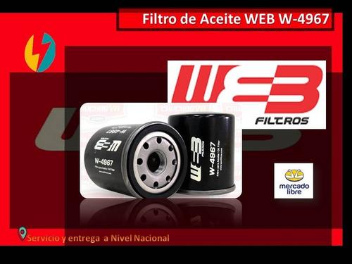 Filtro De Aceite Web W-4967. Terios, Corolla, Yaris, Otros.