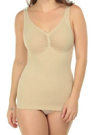 Camiseta De Control Para Mujer Reduce 1 Talla Sin Costuras