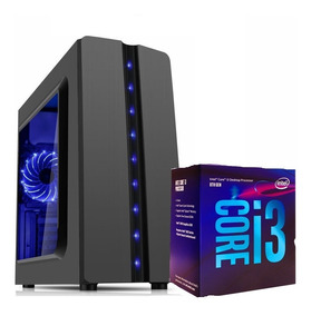 Pc 8° I3-8100, H310m Ds2, 4gb Hyper, Ssd120, Pt400w Reais