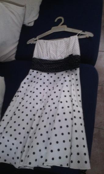 Vestido Lunares Blanco Y Negro Super Oferta 15 N