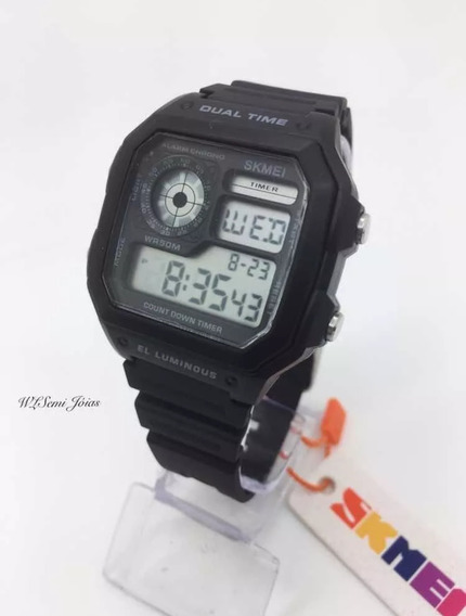 Relógio Preto Crono Time