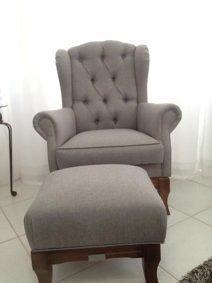 Poltrona + Puf/ Cadeira Quarto, Sala, Consult., Amamentação