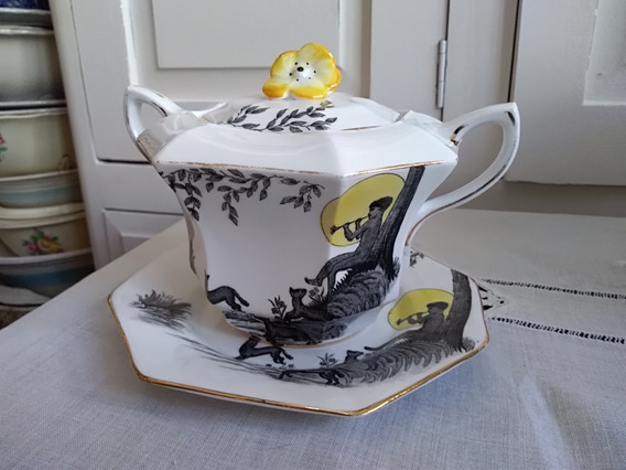 Antigua Azucarera De Porcelana Inglesa Melba Bone China