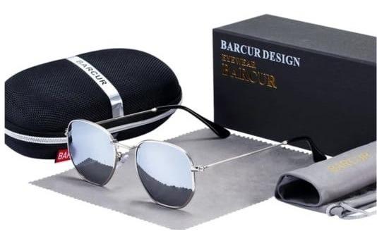 Óculos De Sol Masculino Original Retro Hexagonal