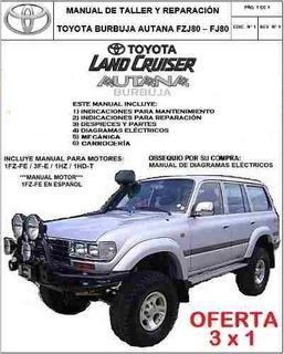 Manual Taller Toyota Land Cruiser Autana Burbuja Fzj80 Fj80
