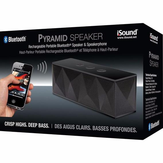Caixa De Som Viva-voz Portátil Bluetooth Pyramid Micro Usb